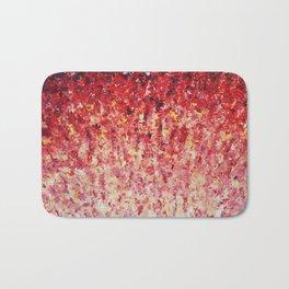 HYPNOTIC SUNRISE - Stunning Sunrise Sunset Pink Magenta Peach Crimson Bright Red Cream Bath Mat