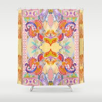 paisley Shower Curtains featuring Paisley  by Jenny Collicott