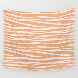 Zebra Print - Toffee Caramel Wall Tapestry