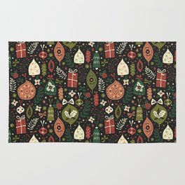 Holiday Ornaments Rug