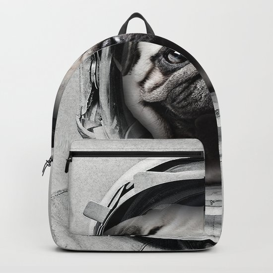 Puggly Pawstrong Astro Dog Backpack