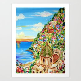 Dreaming to go to Positano Art Print