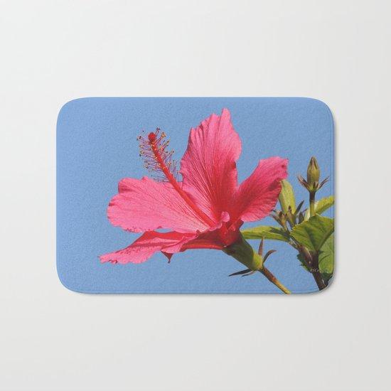 The Neighbor's Pink Hibiscus Bath Mat