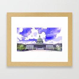 US Capitol Framed Art Print