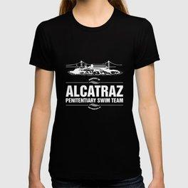 Funny Prison Inmate Alcatraz Penitentiary Swim Team T-Shirt T-shirt