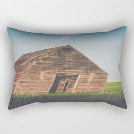 Long Shadows Leaning Barns Rectangular Pillow