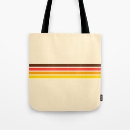 African Retro Stripes Tote Bag