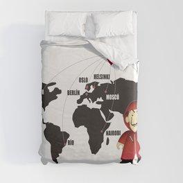 La casa de Papel Money Heist Map Duvet Cover