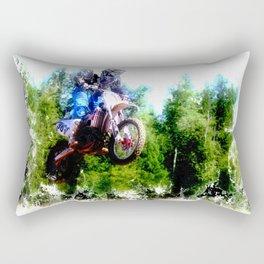 """""""Dare to Fly"""" Motocross Racer Rectangular Pillow"""