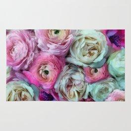 Romantic flowers I Rug