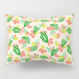 Henri's Garden in peach // tropical flora pattern Pillow Sham