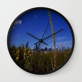 Chicago, the Prairie City (Chicago Northerly Island) Wall Clock