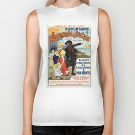 1896 Normandy Brittany Jersey travel ad Biker Tank