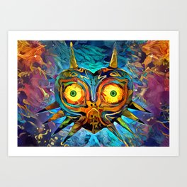 Colorful Majora´s Mask Art Print