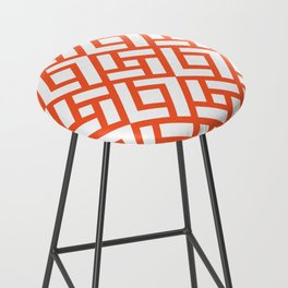 CHINESE CHIPPENDALE vermilion Bar Stool