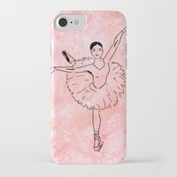ballet iPhone & iPod Cases featuring Ballet  (Ballet dancer in arabesque wearing a tutu) by Janin Wise