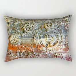 Mechanical Gear Abstract Rectangular Pillow
