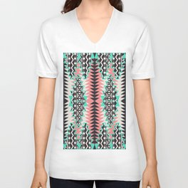 Tribal Beat Geo Pastel Unisex V-Neck