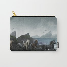 Shores of the black sand Carry-All Pouch