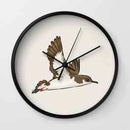 Simple Minimalist Manx Shearwater Flying Wall Clock