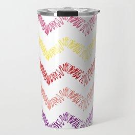 Wonderful Pattern zig zag lines Travel Mug