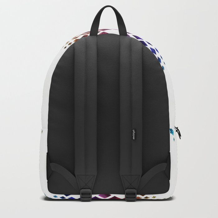 Colorful geometric pattern. Backpack
