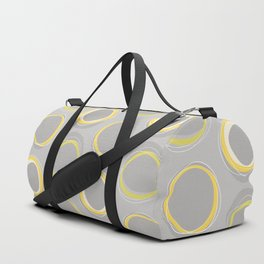 Solar Eclipse MCM Gray-Yellow Duffle Bag