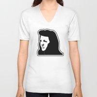 ellie goulding V-neck T-shirts featuring Ellie Goulding Stencil by NicoStuart
