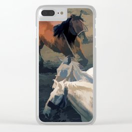 Breaking Away   -  Wild Horses Clear iPhone Case