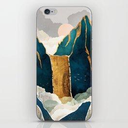 Golden Waterfall iPhone Skin