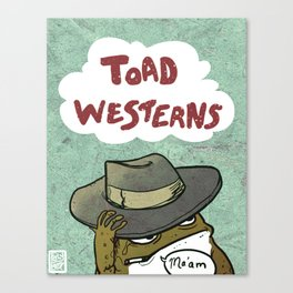 Rustic Toad Westerns Canvas Print
