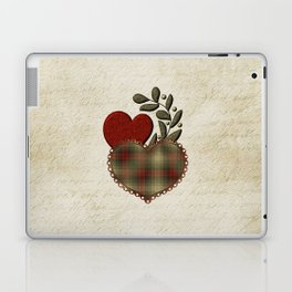 Red & Green Plaid Heart Love Letter Laptop & iPad Skin