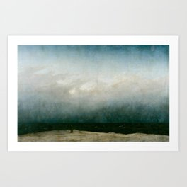 The Monk by the Sea by Caspar David Friedrich 1808 Art Print