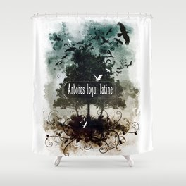 arbores loqui latine Shower Curtain