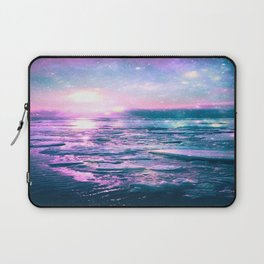 Mystic Waters Vibrant Pink Blue Lavender Laptop Sleeve