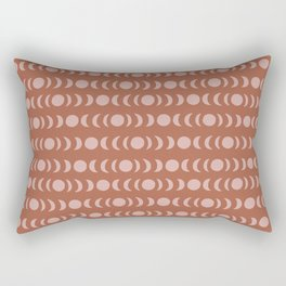 Autumnal Boho Moon Rectangular Pillow