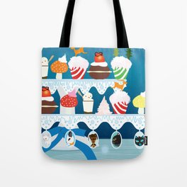 Christmas with Fashionista cats. Tote Bag