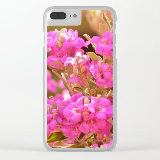 Pretty Pink Petals Clear iPhone Case