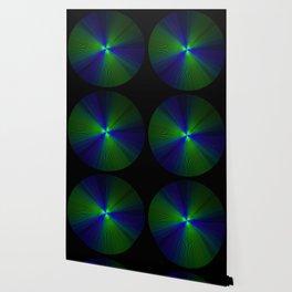 Purple Green Spirographic Lines Wallpaper