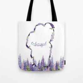 Tahoe Girl Lupine Meadow Tote Bag