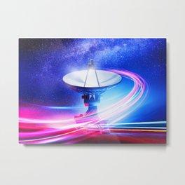 Radio Telescope: Neon light Metal Print