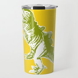Dino Pop Art - T-Rex - Yellow & Olive Travel Mug