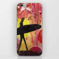 surfer iPhone & iPod Skins featuring Surfer by Sophia Buddenhagen