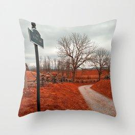 Bloody Red Lane Throw Pillow