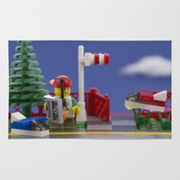 airplanes Area & Throw Rugs featuring Airplanes by Pedro Nogueira