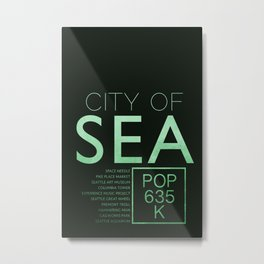 The City of Seattle Metal Print
