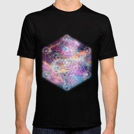 Watercolor and nebula sacred geometry  T-shirt