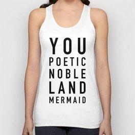 Poetic Noble Land Mermaid Unisex Tank Top