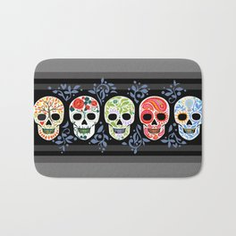 Sugar Skulls_Celebracion del Color line_Calaveras_RobinPickens Bath Mat
