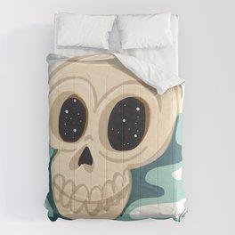 very scary skull Comforters